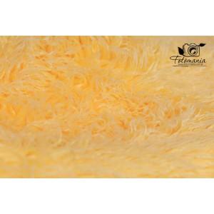 Kocyk futrzany kolor żółty