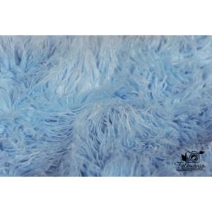 Kocyk futrzany błękitny