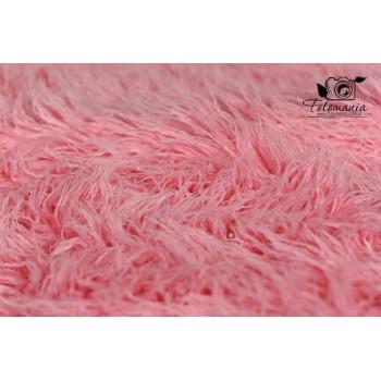 Kocyk futrzany kolor różowy